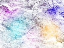 Kreativer Hintergrund mit Steinbeschaffenheit und multi farbigen Halbtonen von Steigungen lizenzfreies stockfoto