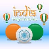Kreativer Indien-Unabhängigkeitstag-Design-Vektor Art Logo Lizenzfreies Stockfoto