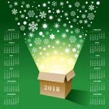 Kreativer Kalender des Weihnachten2018 Lizenzfreie Stockfotografie