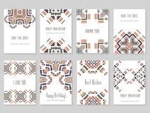 Kreativer Kartensatz Stockbilder