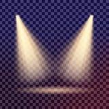 Kreativer Konzept Vektorsatz Lichteffektsterne des Glühens birst mit den lokalisierten Scheinen Lizenzfreie Stockbilder