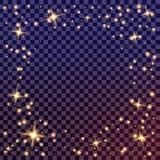 Kreativer Konzept Vektorsatz Lichteffektsterne des Glühens birst mit den lokalisierten Scheinen Stockfotos