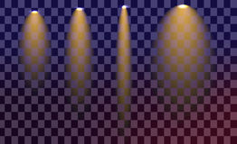 Kreativer Konzept Vektorsatz Lichteffektsterne des Glühens birst mit Schein Stockfotos