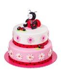Kreativer Kuchen für ein Mädchen auf ihrem Geburtstag lizenzfreies stockfoto