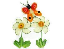 Kreativer lustiger Gemüsesnack mit Gurke Lizenzfreie Stockfotos