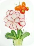 Kreativer lustiger Gemüsesnack mit Gurke Lizenzfreies Stockfoto