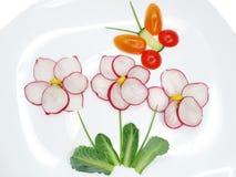 Kreativer lustiger Gemüsesnack mit Gurke Lizenzfreie Stockbilder