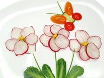 Kreativer lustiger Gemüsesnack mit Gurke Stockfotos