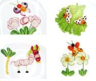 Kreativer lustiger Gemüsesnack mit Gurke Lizenzfreies Stockbild