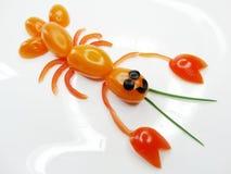 Kreativer lustiger Gemüsesnack mit Tomate Lizenzfreies Stockfoto