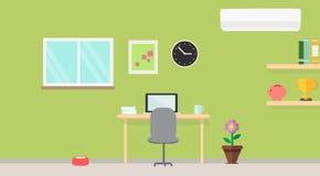 Kreativer moderner Arbeitsplatz mit Tabelle und Designer Lizenzfreie Stockfotografie