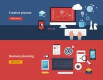 Kreativer Prozess und Unternehmensplanung Stockbilder