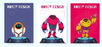 Kreativer Roboter-Entwurf Plakat-Generations lizenzfreie abbildung
