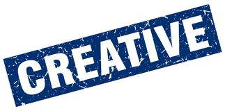 Kreativer Stempel lizenzfreie abbildung