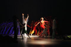 Kreativer Tanz des Lichtes Stockbild