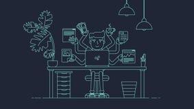 Kreativer Technologie-Arbeitsplatz Stockfotos