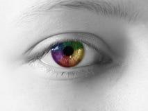 Kreatives Auge des Regenbogens lizenzfreie stockbilder