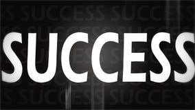 Kreatives Bild des schwarzen Erfolgs Stockbild