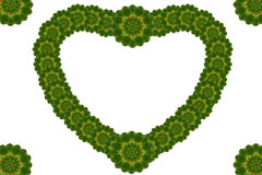 Kreatives Blumenblatt des Herzens Stockfotos