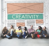Kreatives Creatvity-Webdesign-Entwurf-Konzept Lizenzfreies Stockfoto
