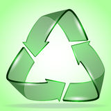 kreatives Design des Logos der Ökologie 3d Lizenzfreies Stockfoto