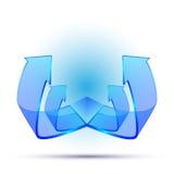 kreatives Design des Pfeiles 3d Stockbilder