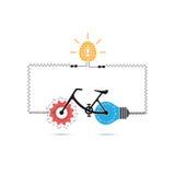 Kreatives Fahrradikonen-Vektordesign lizenzfreie abbildung