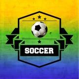 Kreatives Fußball-Vektor-Design Stockfotos