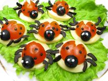 Kreatives Gemüsesandwich mit Käse Lizenzfreies Stockbild