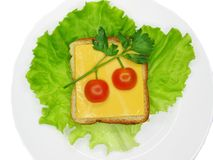 Kreatives Gemüsesandwich mit Käse Lizenzfreie Stockfotografie