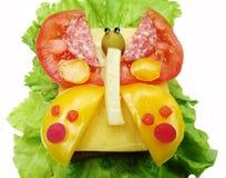 Kreatives Gemüsesandwich mit Wurst Käseamerikanischen nationalstandards Lizenzfreie Stockfotos