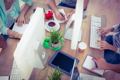 Kreatives Geschäft teamin eine Sitzung Lizenzfreie Stockfotografie