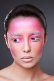 Kreatives Gesichtsfarbenporträt stockfotografie