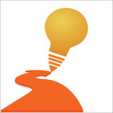 Kreatives Glühlampeerfolg Ideenkonzept-Hintergrunddesign Lizenzfreies Stockbild