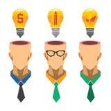 Kreatives Glühlampeideenkonzept, Geschäftsidee, Ökologieidee Stock Abbildung
