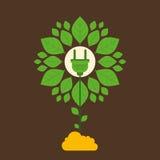 Kreatives grünes EnergiepflanzeKonzept des Entwurfes stock abbildung