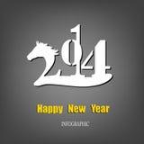 Kreatives guten Rutsch ins Neue Jahr Lizenzfreies Stockbild