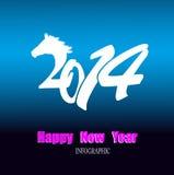 Kreatives guten Rutsch ins Neue Jahr Stockfoto