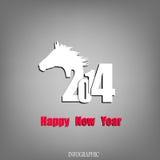 Kreatives guten Rutsch ins Neue Jahr Lizenzfreies Stockfoto
