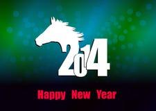 Kreatives guten Rutsch ins Neue Jahr 2014 Lizenzfreie Stockfotografie