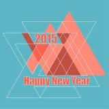 Kreatives guten Rutsch ins Neue Jahr Stockfotos