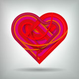 Kreatives Herz-Konzept Vektor Abbildung