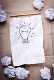 Kreatives Ideen-Konzept stockbilder
