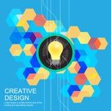 Kreatives Ideenkonzeptdesign Stockfotografie