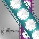 Kreatives Kino-Hintergrund-Design Einkaufsumbauten und -ikonen Minimale lokalisierte Film-Illustration EPS10 Lizenzfreies Stockfoto