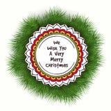 Kreatives klebriges für frohe Weihnachten lizenzfreie abbildung