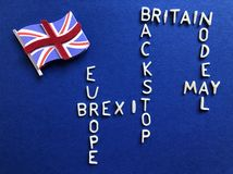 Kreatives Konzept: Britische Regierung und Politik, Brexit stockfotografie