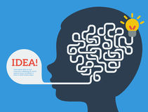 Kreatives Konzept des menschlichen Gehirns Stockfotos