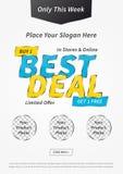 Kreatives Konzept des Plakat-bestes Abkommen begrenztes Angebots stock abbildung