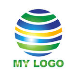 Kreatives Logo für Ihre Firma Lizenzfreies Stockbild